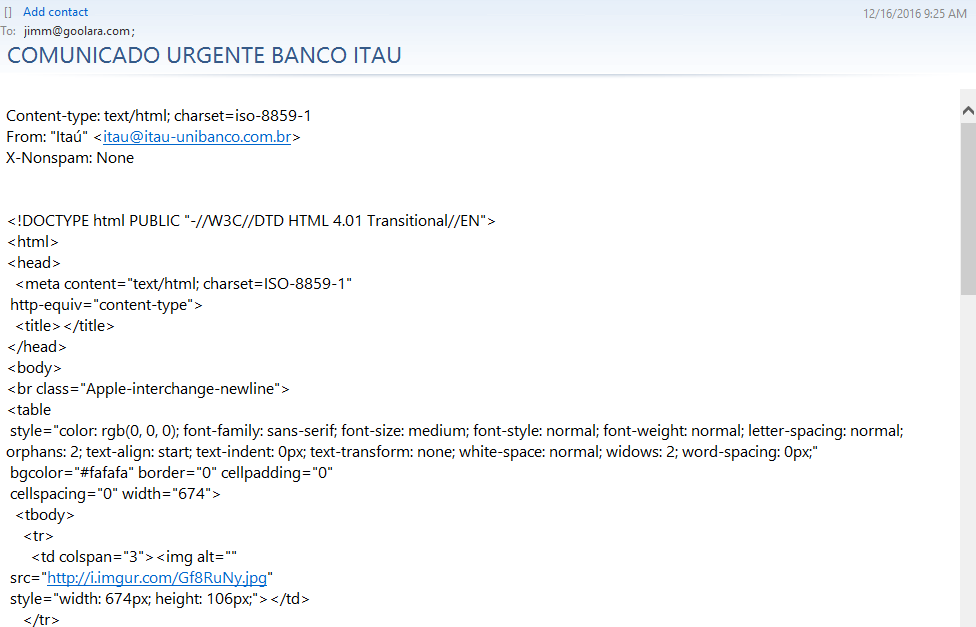 badly coded spam