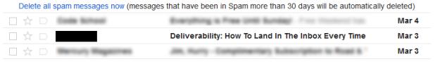 Deliverability fail