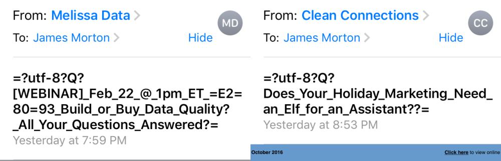 utf errors