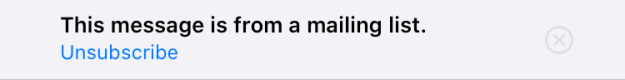 Apple unsubscribe
